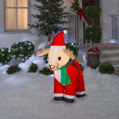 4 ft. Pre-Lit Airblown Inflatable Christmas Goat