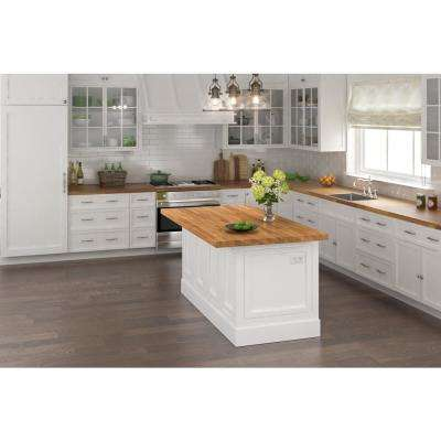 8 ft. L x 2 ft. 1.5 in. D x 1 in. T Butcher Block Countertop in Light Oak Stained Acacia