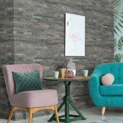 Salvador Platinum Ledger Panel 6 in. x 24 in. Natural Quartzite Wall Tile (8 sq. ft. / case)