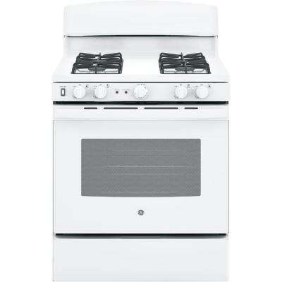 30 in. 5.0 cu. ft. Free-Standing Gas Range with Self-Cleaning Oven in White