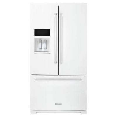 36 in. W 26.8 cu. ft. French Door Refrigerator in White