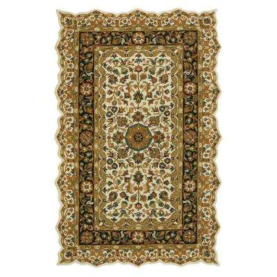 Masterpiece Beige and Black 8 ft. 3 in. x 11 ft. Area Rug