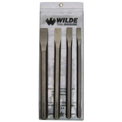 Long Cold Chisel Set in Natural with Vinyl Pouch (4-Piece)