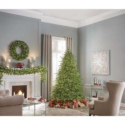 Ashcroft  7.5 ft. Pre-Lit LED Majestic Brilliance Fir Artificial Christmas Tree with 5000 Warm White Fairy Lights