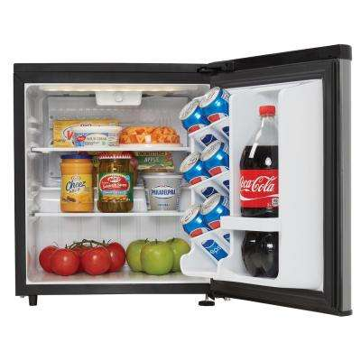 1.73 cu. ft. Retro Mini Fridge in Stainless Steel without Freezer