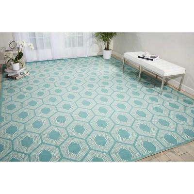 Bubbly Surf 8 ft. x 11 ft. Indoor/Outdoor Area Rug