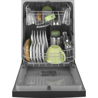 24 in. Front Control Built-In Tall Tub Dishwasher in Black, 59 dBA