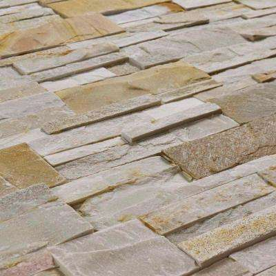 Ledger Panel Sunstone 7 in. x 13-1/2 in. Natural Quartzite Wall Tile (6 cases / 31.5 sq. ft. / pallet)