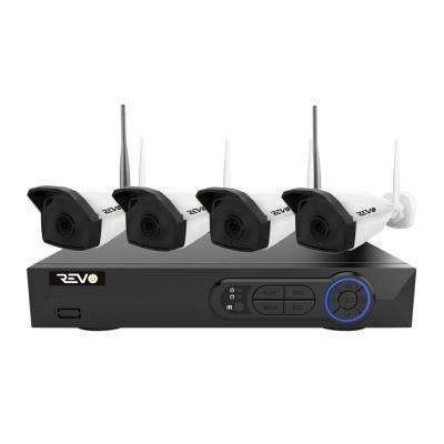 Wireless HD 4-Channel 5 MP 1TB Smart NVR Surveillance System with 4 Ultra HD 5 MP Wireless Indoor/Outdoor Bullet Cameras