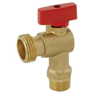 1/2 in. Brass MIP Quarter Turn Male Boiler Drain