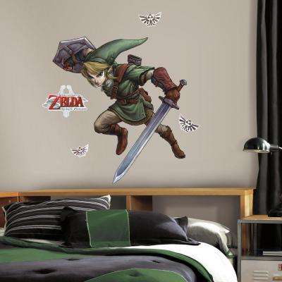 5 in. W x 19 in. H Zelda Twilight Princess 10-Piece Peel and Stick Giant Wall Decal