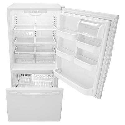 22 cu. ft. Bottom Freezer Refrigerator in White