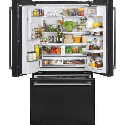 27.8 cu. ft. Smart French-Door Refrigerator with Wi-Fi in Black Slate, Fingerprint Resistant
