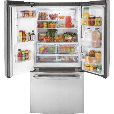 17.5 cu. ft. French Door Refrigerator in Stainless Steel, Counter Depth