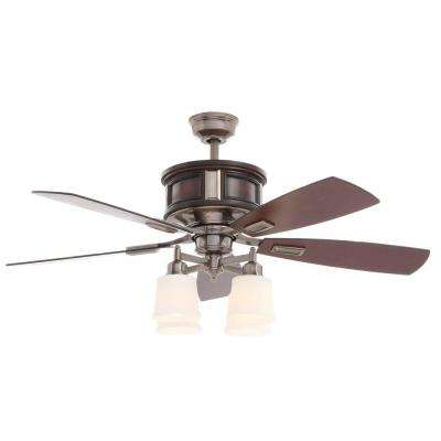 Garrison 52 in. Gunmetal Ceiling Fan