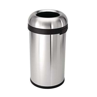 60 l Brushed Stainless Steel Bullet Open Top Trash Can
