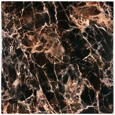 Eclipse Negro 17-3/4 in. x 17-3/4 in. Ceramic Floor and Wall Tile (15.3 sq. ft. / case)