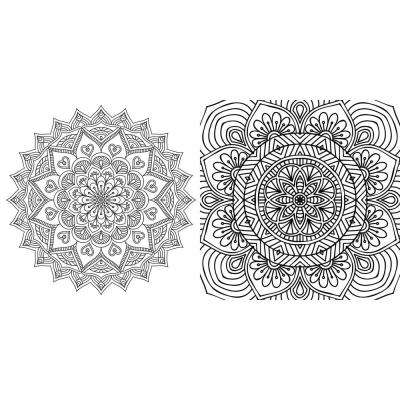 4 in. x 12.2 in. Mandala 2-Piece Peel and Stick Color Wall Decal