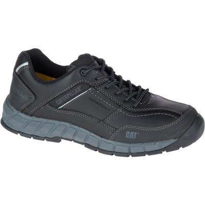 Streamline Leather Men's Black Work Shoes