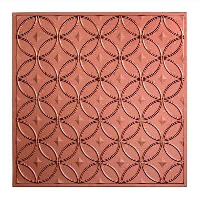 Rings - 2 ft. x 2 ft. Lay-in Ceiling Tile in Argent Copper