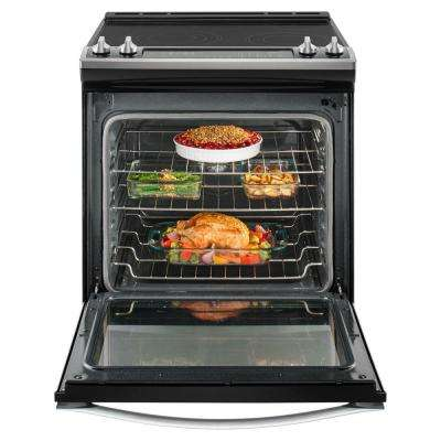 6.4 cu. ft. Slide-in Electric Range with True Convection in Stainless Steel