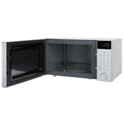 1.1 cu. ft. Countertop Microwave in Brushed Silver with Black Front