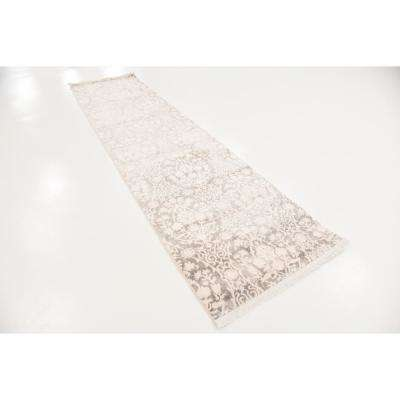 New Classical Tyche Gray 2' 7 x 10' 0 Runner Rug