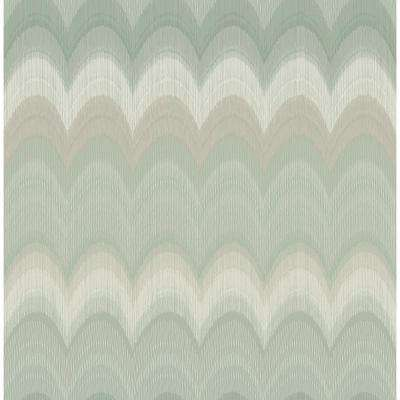 56.4 sq. ft. August Sage Wave Wallpaper