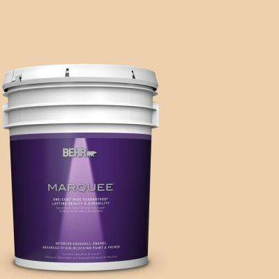 5 gal. #MQ3-43 Ceramic Beige One-Coat Hide Eggshell Interior Paint