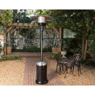 46,000 BTU Onyx and Stainless Steel Gas Patio Heater