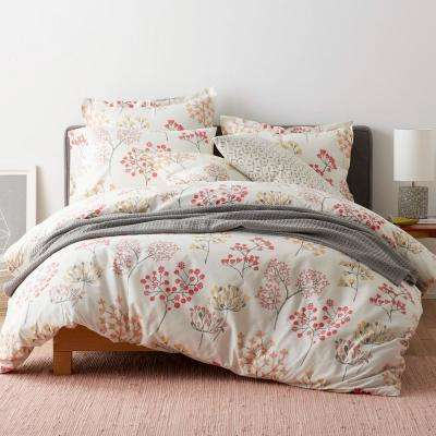 Karlie Floral Cotton Percale Duvet Cover