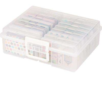 4 in. x 6 in. Extra Large Photo and Craft Keeper in Clear
