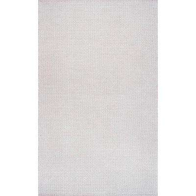 Diamond Cotton Check Taupe 6 ft. x 9 ft. Area Rug