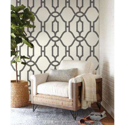 Woven Trellis Paper Strippable Wallpaper (Covers 56 sq. ft.)