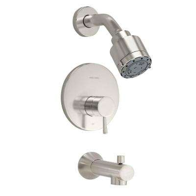 Serin 1-Handle Tub and Shower Faucet Trim Kit in Satin Nickel (Valve Sold Separately)
