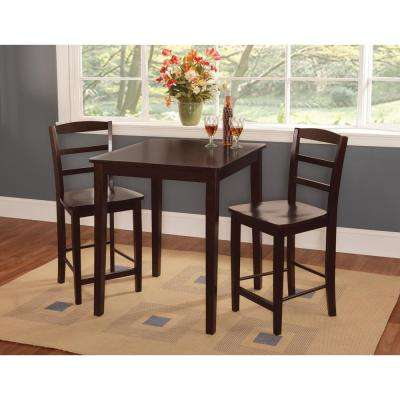 30 in. Square 36 in. H Shaker Counter Table in Rich Mocha