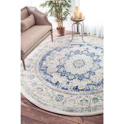 Verona Blue 8 ft. x 8 ft. Round Area Rug