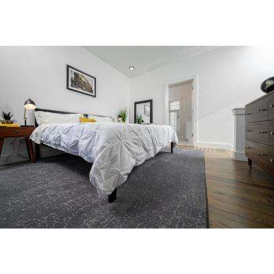 Etched - Color Nightfall Residential 9 in. x 36 in. Peel and Stick Carpet Tile (10 Tiles / Case)