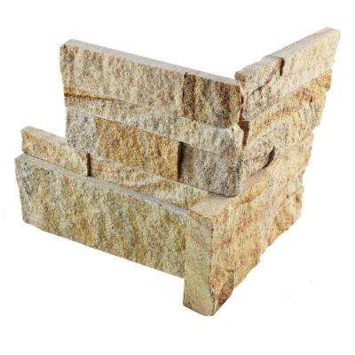 Ledger Panel Sandstone Corner 7 in. x 7 in. Natural Stone Wall Tile