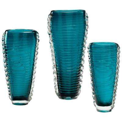 Prospect 12.5 in. Medium Cyan Decorative Vase in Blue