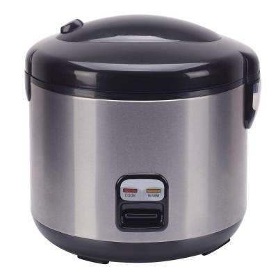10-Cup Rice Cooker with Stainless Body