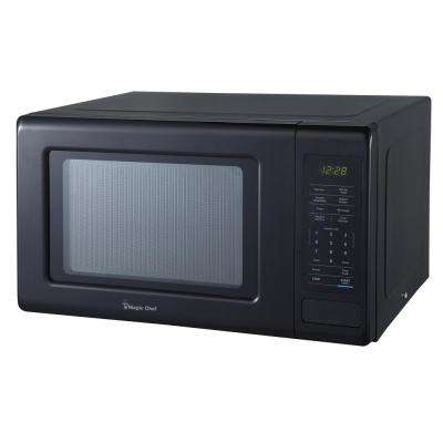 0.9 cu. ft. Countertop Microwave in Black with Gray Cavity