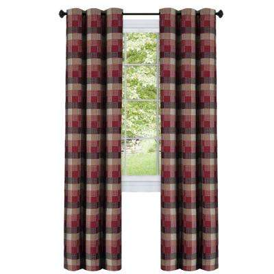 Harvard 36 in. L Polyester Window Curtain Tier Pair in Burgundy