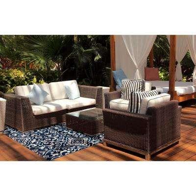 Patio Brights McBee Blue 7 ft. x 10 ft. Indoor/Outdoor Area Rug