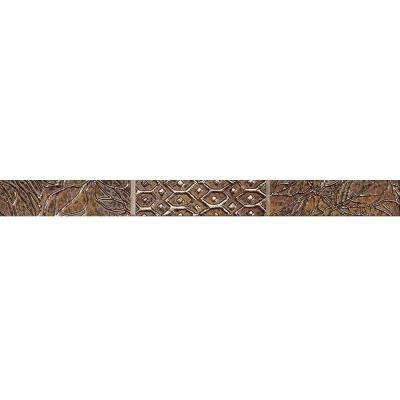 Montagna 1 in. x 13 in. Multi/Metallic Porcelain Listello Floor and Wall Tile