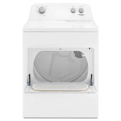 7.0 cu. ft. 120-Volt White Gas Dryer with AutoDry Drying System
