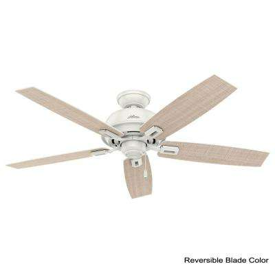 Donegan 52 in. Indoor/Outdoor Fresh White Ceiling Fan
