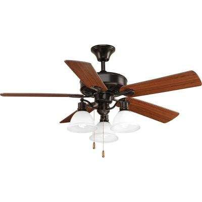 AirPro Collection 52 in. Indoor Antique Bronze Industrial Ceiling Fan