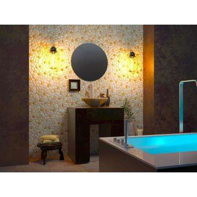 3D Retro 24/1000 in. x 39 in. x 25 in. Pearl, Brown PVC Wall Panel