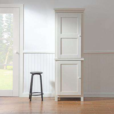Maidstone Assembled 26 x 78 x 20 in. Pantry/Utility with Wooden Doors in Picket Fence